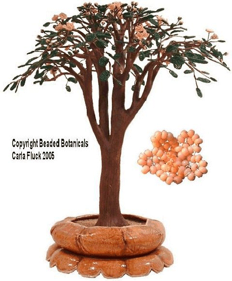 Beaded Flowers - Cherry Blossom Bonsai Tree