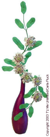 Beaded Flowers - Passion Flower Vine