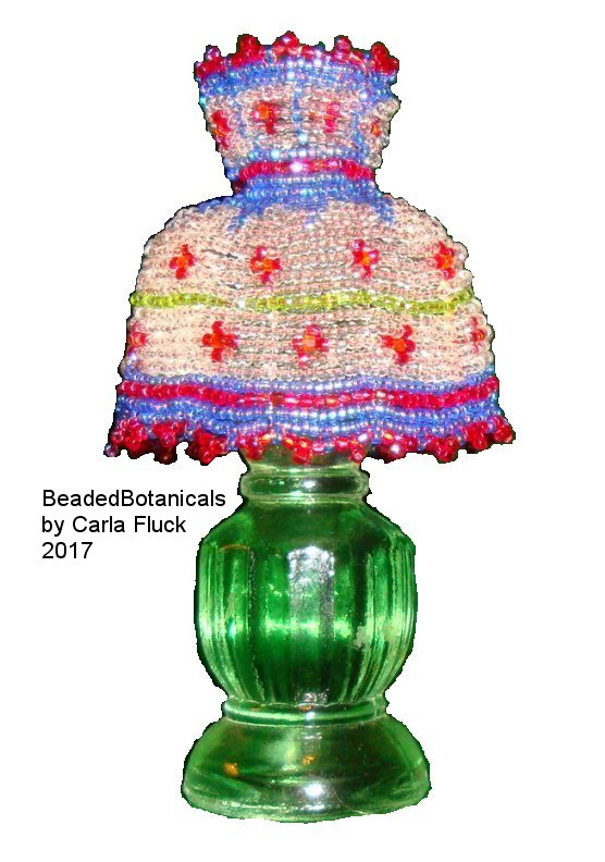 mini beaded lamp shade